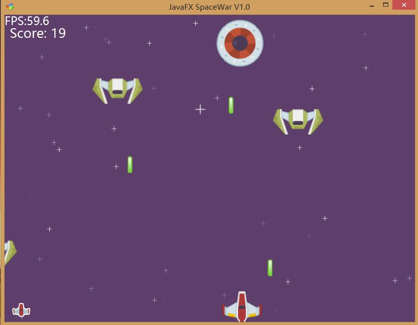 《JavaFX飞行射击游戏示例》