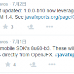 JavaFX on mobile近期消息
