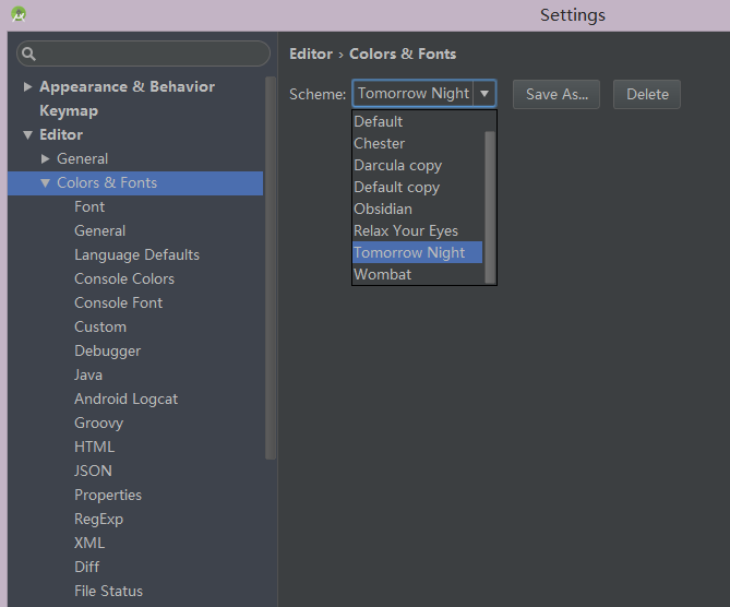 《Android Studio更改代码样式》