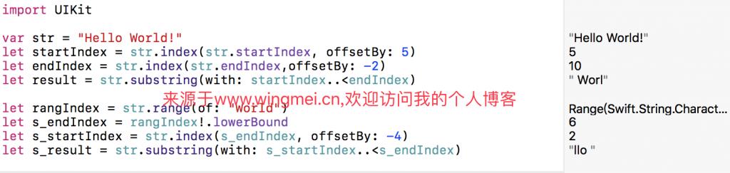 《IOS Swift 3.1字符串截取》