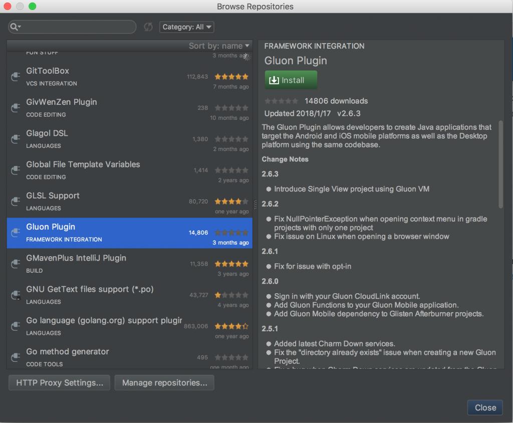 Gluon已经支持在IntelliJ IDEA中跨平台开发JavaFX了