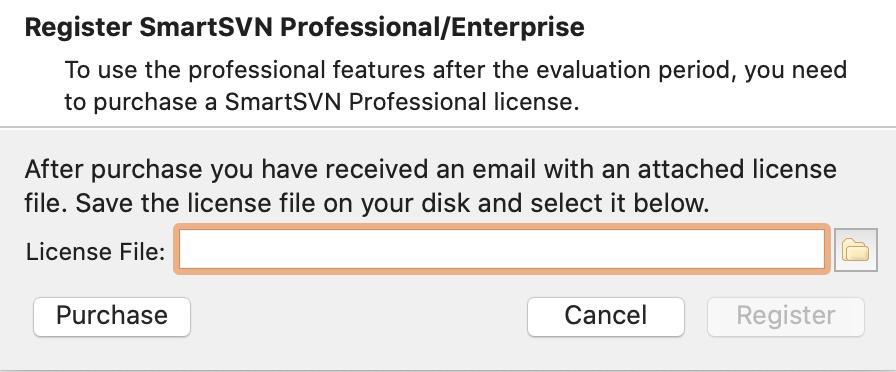 Mac SmartSVN 11的License